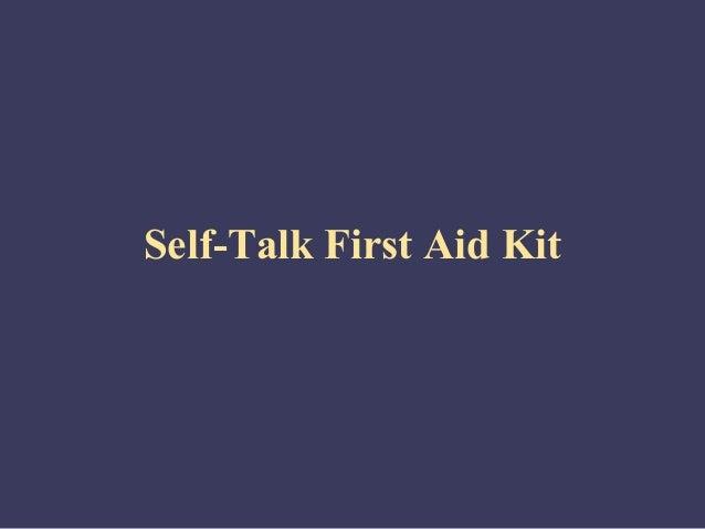 Self management self-talk-first_aid_kit