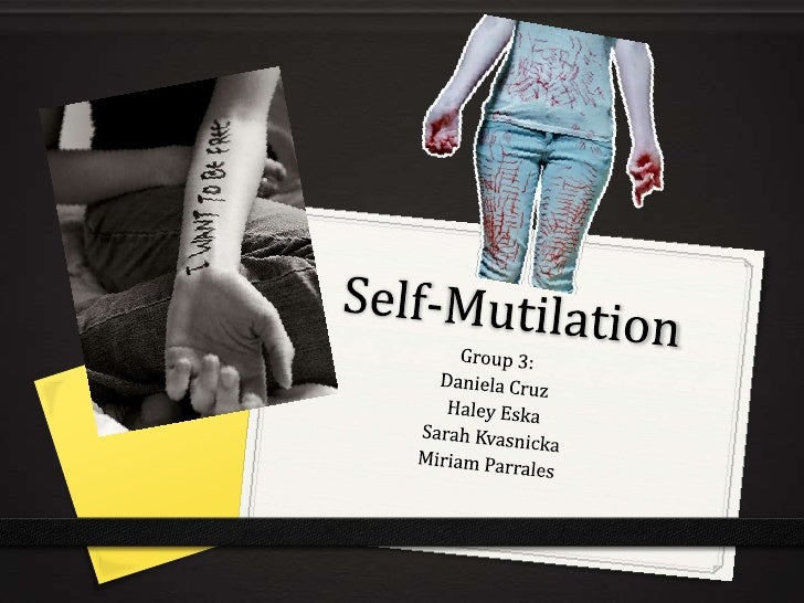 """Definition and Description0 """"Self-mutilation refers to intentional, non-lethal,  repetitive bodily harm or disfigurement t..."""