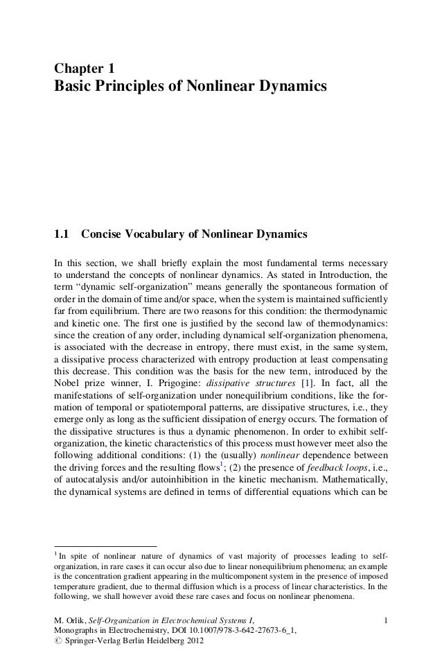 Chapter 1 Basic Principles of Nonlinear Dynamics 1.1 Concise Vocabulary of Nonlinear Dynamics In this section, we shall br...