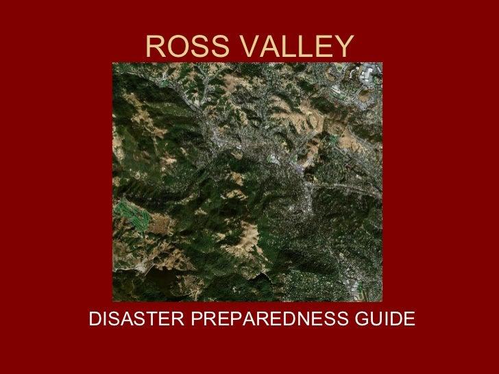 ROSS VALLEY DISASTER PREPAREDNESS GUIDE