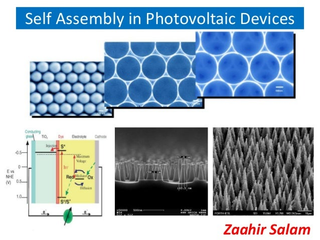 Self Assembly in Photovoltaic Devices                           Zaahir Salam