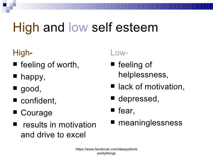 Self Esteem Research Paper