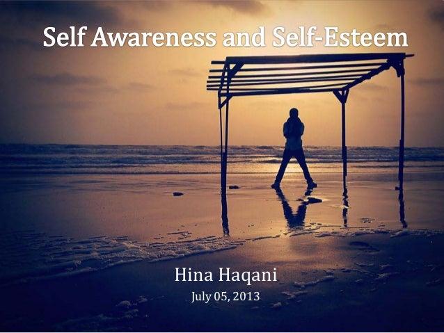 Self Awareness and Self Esteem