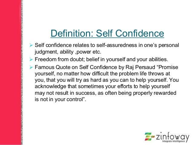 short essay on confidence