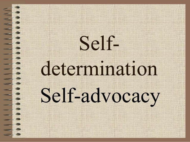 Self determination example