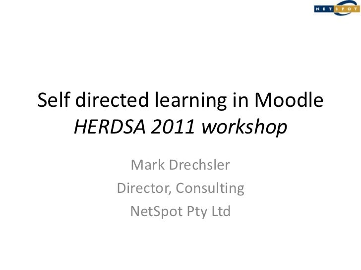 Self-directed learning using Moodle