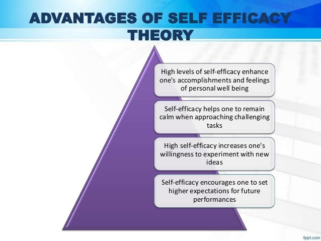 High Self Efficacy Advantages of Self Efficacy