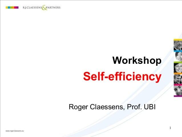 Self efficiency uk   2011
