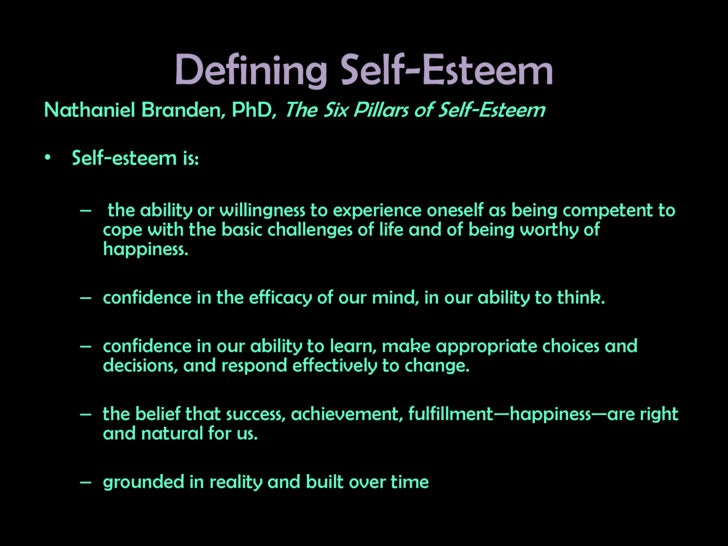 defining self esteem When considering self-esteem it is important to note that both high and low levels can be emotionally and socially harmful for the individual.