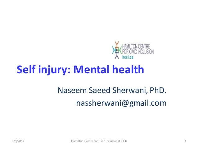 Self injury mental health among Ethno-Cultural Youth