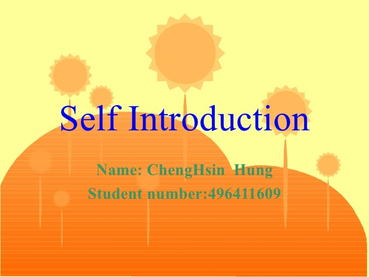 sample self introduction letter Success