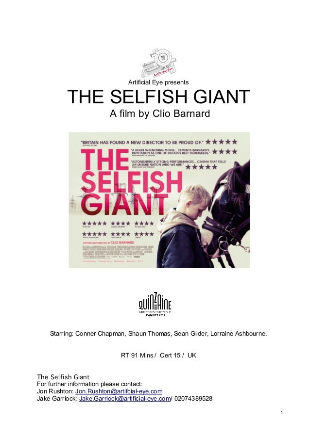 Artificial Eye presents  THE SELFISH GIANT A film by Clio Barnard  Starring: Conner Chapman, Shaun Thomas, Sean Gilder, Lo...