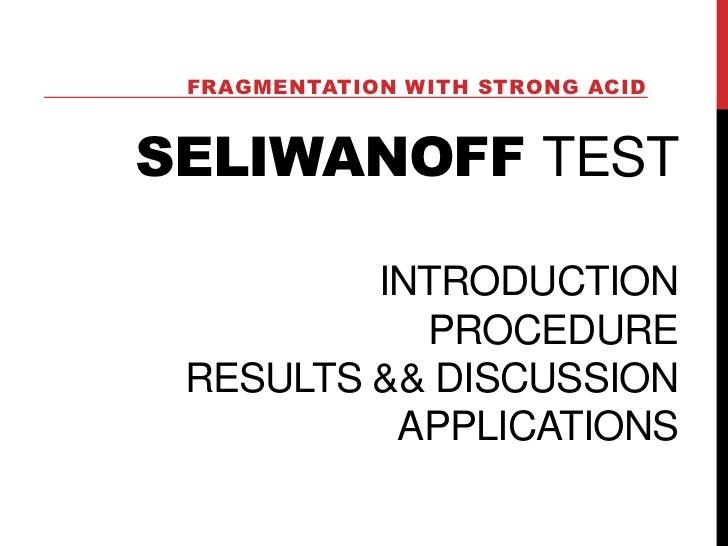 Seliwanoff & Benedicts Test