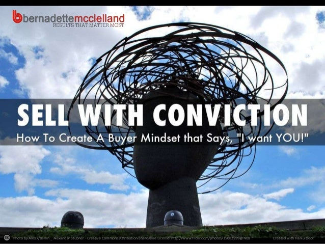 Bernadette McClelland's 'Sell with Conviction' Presentation