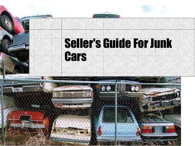 Seller's Guide For Junk Cars