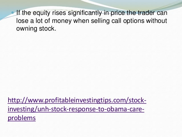 Stock options selling calls