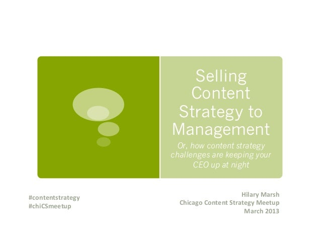 Selling Content Strategy to Management