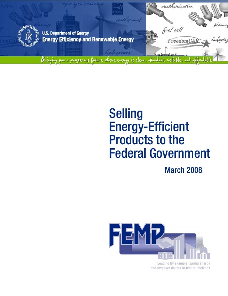 Selling Energy-Efficient Products to the Federal Government
