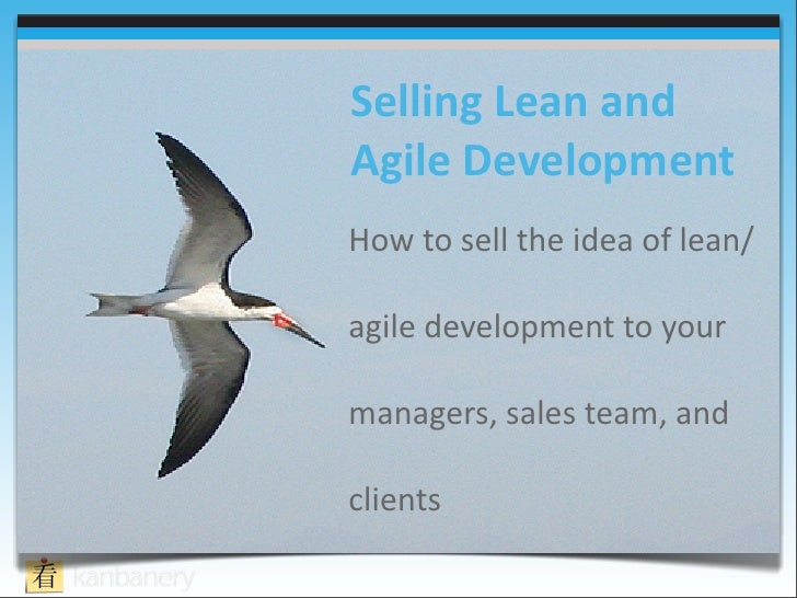 Selling lean development
