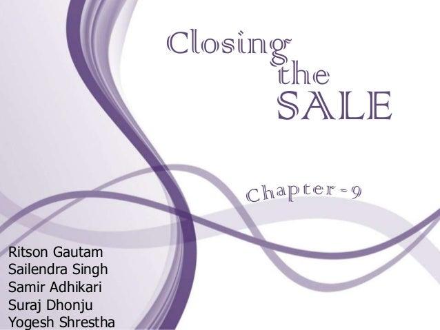 Closing                        the                       SALE                        ptRitson GautamSailendra SinghSamir A...