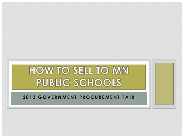 Selling to public schools 4 16-13