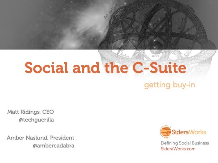 Selling Social Business To The C-Suite - SideraWorks