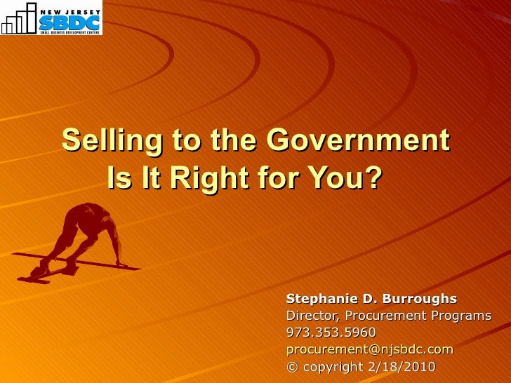 Selling to the Government, Is It Right for You?
