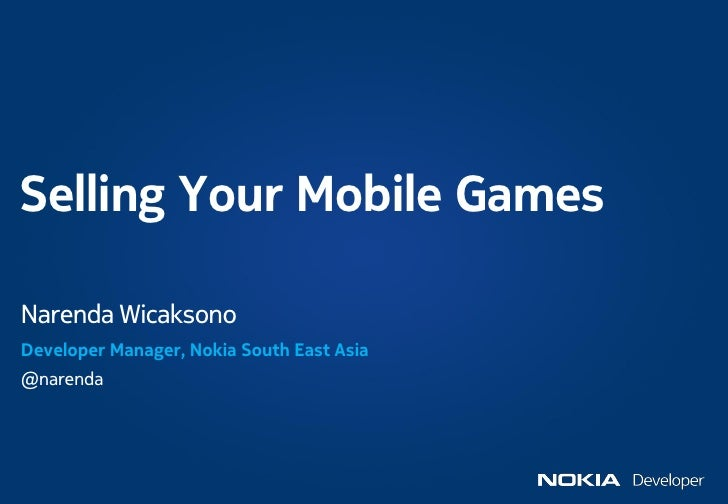 Nokia - Selling your mobile application