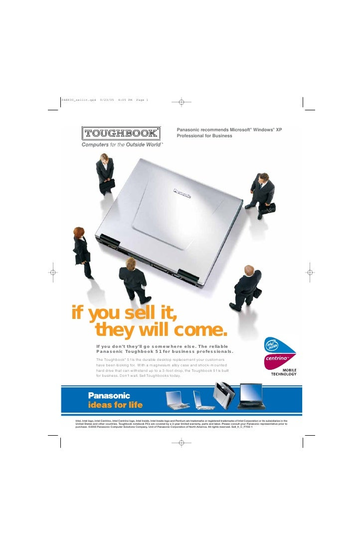 Panasonic recommends Microsoft® Windows® XP                                                                               ...