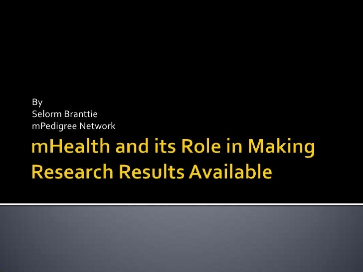 mHealth and its role in making research results available