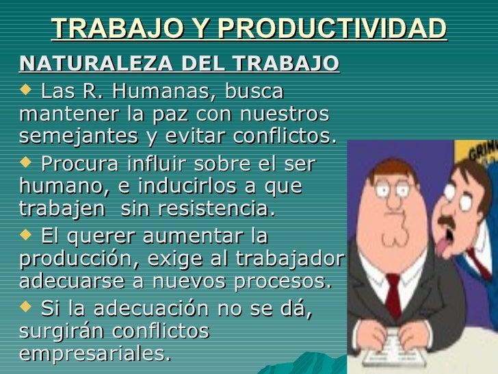 definicion productividad trabajo: