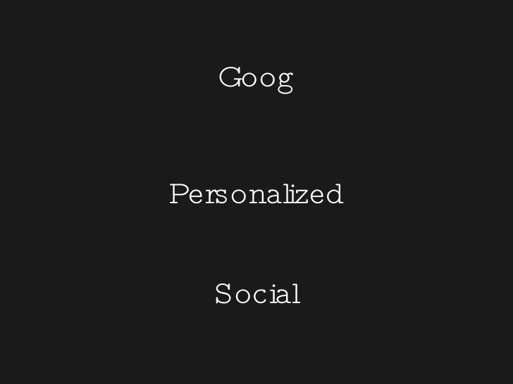 Goog Personalized Social
