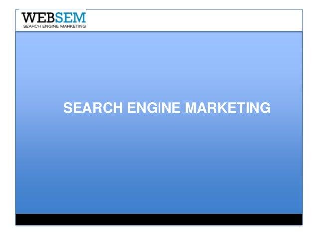 Search Engine Marketing - Online Pazarlama 3 Ocak 2013 EPN