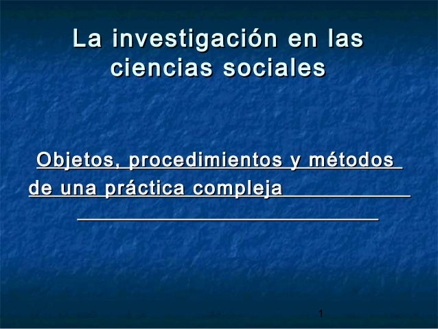 Seminario de Investigación. Encuentro 1. Introducción al proceso de investigación