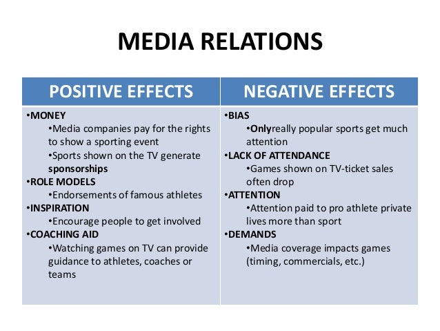 negative effect of media television Are you in the habit of relaxing by watching television however television is replete with programs involving objectionable content and violence read on to learn about the bad and negative.