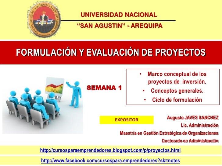 Sem 1 formulaciín y evaluación de proyectos