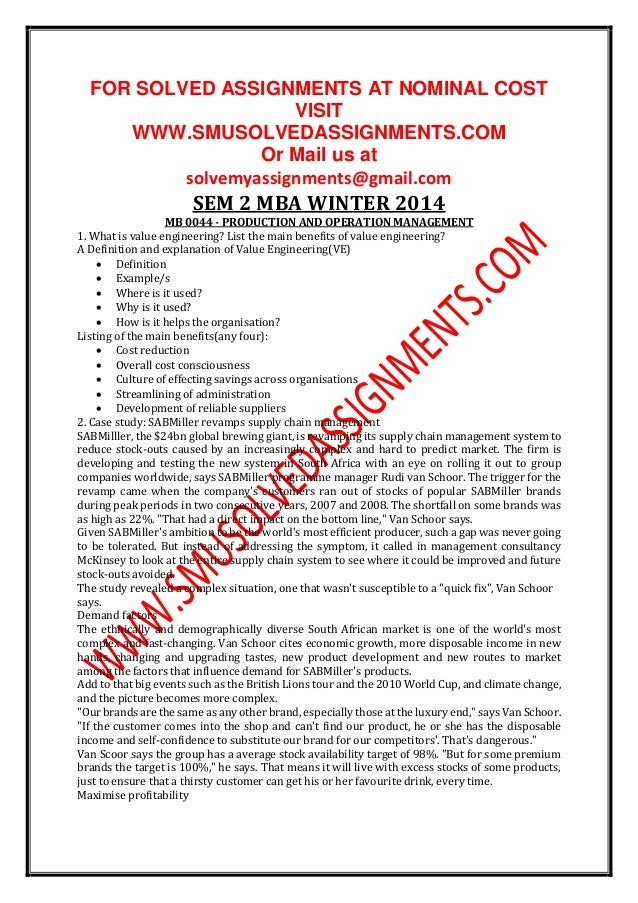 smu mb0044 sem 2 2013 solved Smu mba 0045 sem 2 assignments ---- njoyeeeee - free download as word doc (doc / docx), pdf file (pdf), text file (txt) or read online for free njoyyeee free.