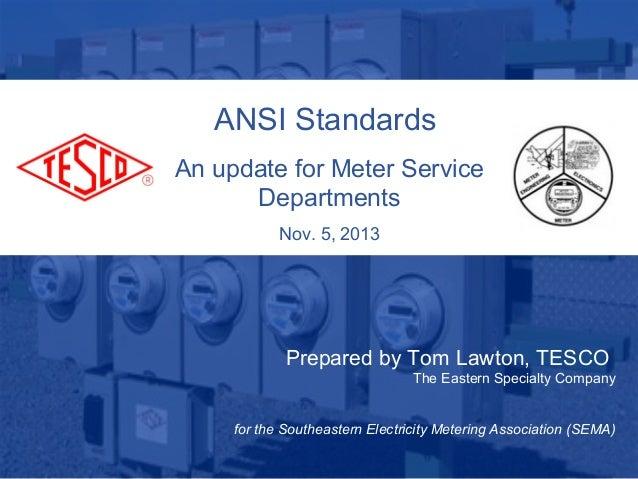 ANSI Standards & Updates