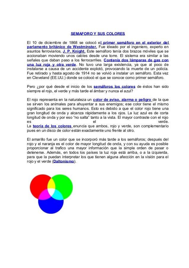 Semaforo y sus colores