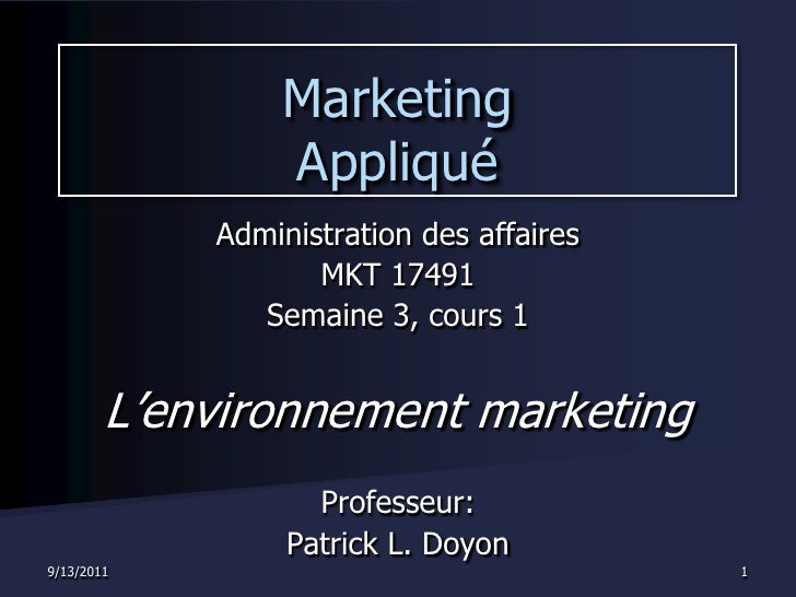 Semaine 3   cours 1