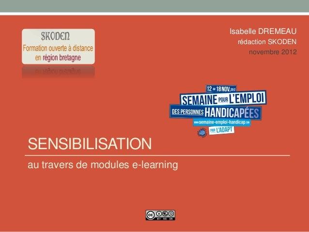 E-learning et handicap 2012