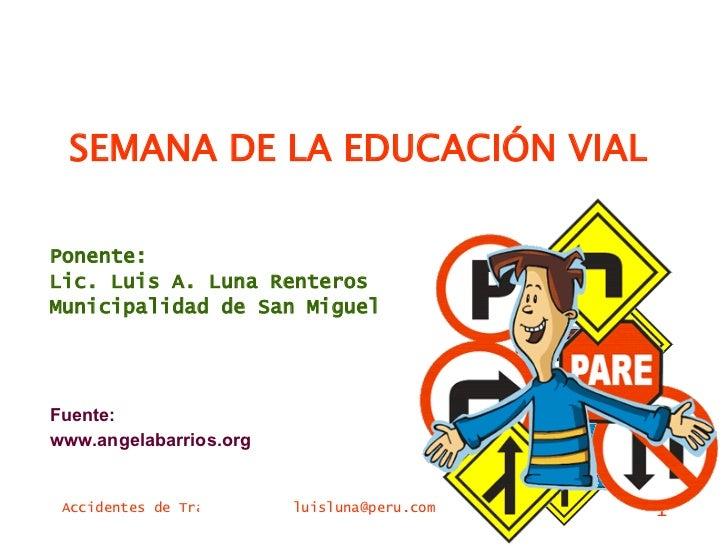 Semana De La EducacióN Vial