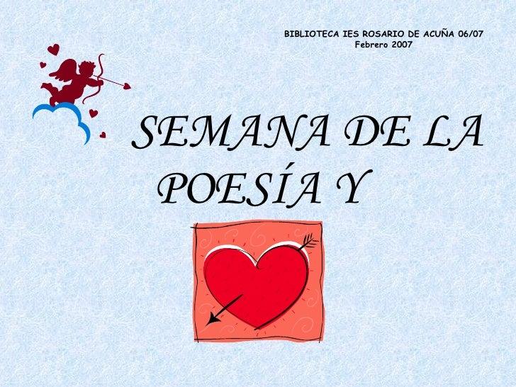 Semana de la poesía