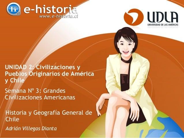 UNIDAD 2: Civilizaciones y Pueblos Originarios de América y Chile Semana Nº 3: Grandes Civilizaciones Americanas Historia ...