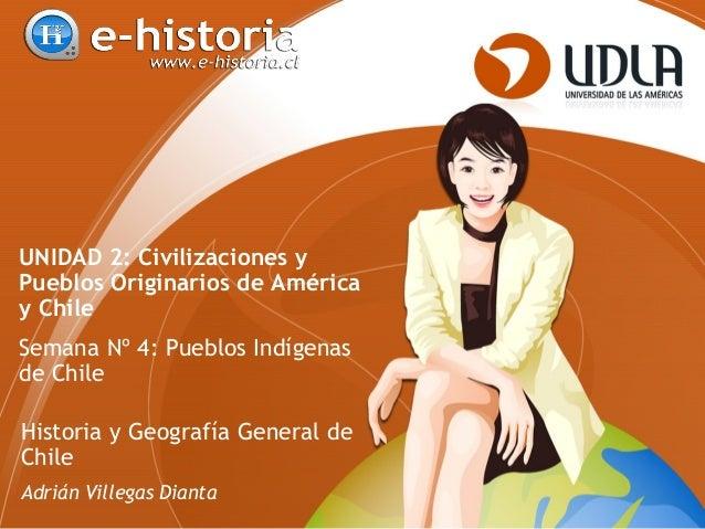 UNIDAD 2: Civilizaciones y Pueblos Originarios de América y Chile Semana Nº 4: Pueblos Indígenas de Chile Historia y Geogr...