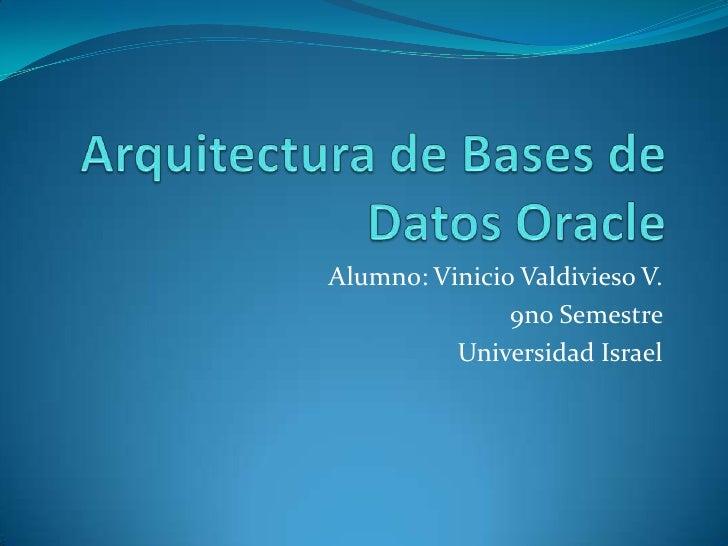Arquitectura de Bases de Datos Oracle