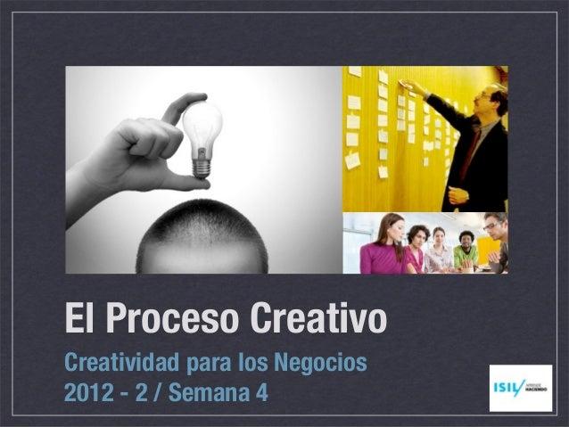 El Proceso CreativoCreatividad para los Negocios2012 - 2 / Semana 4