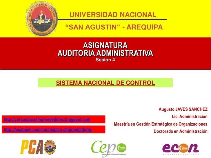 """UNIVERSIDAD NACIONAL                              """"SAN AGUSTIN"""" - AREQUIPA                                ASIGNATURA      ..."""