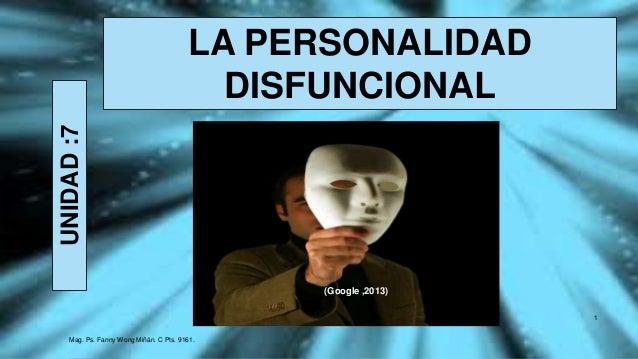 LA PERSONALIDAD DISFUNCIONAL -FANNY JEM WONG- SEMANA 7