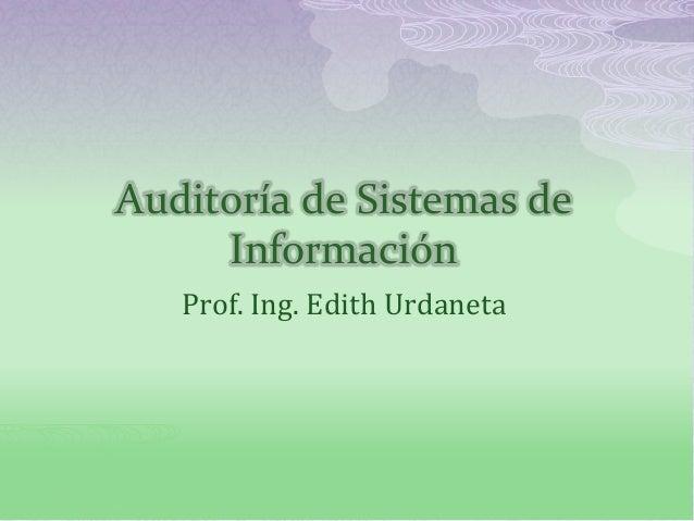 Semana 9   auditoría de sistemas de información